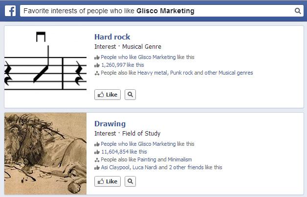 Facebook Graph Search esempio