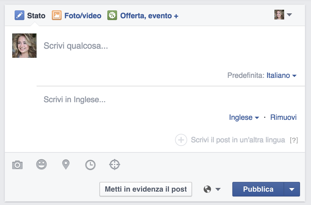 post multilingua facebook