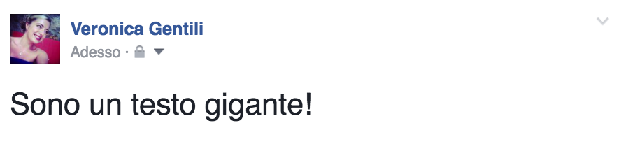 facebook testo gigante post