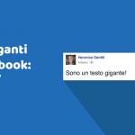 Perché alcuni post di Facebook contengono testo gigante?