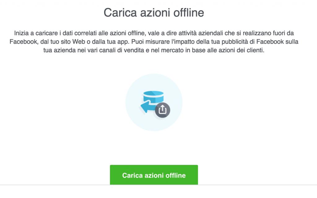 caricare file eventi offline