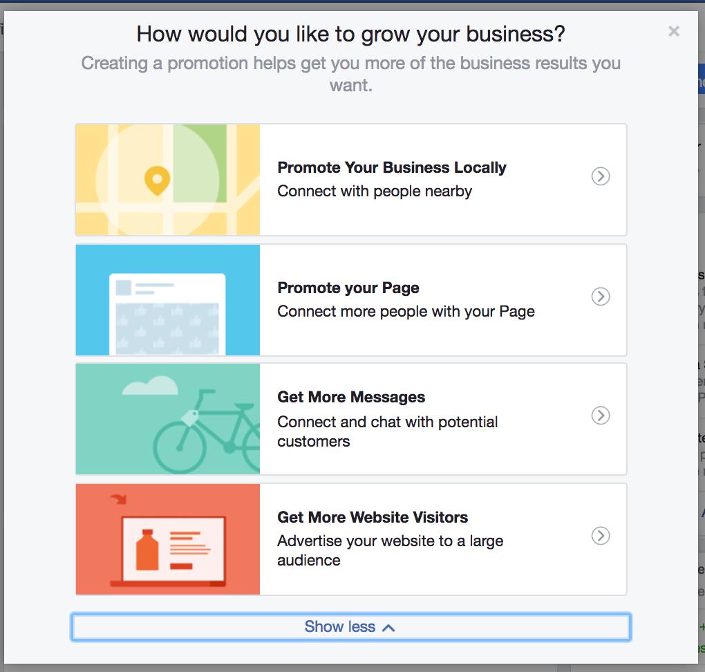 facebook ads sulla pagina