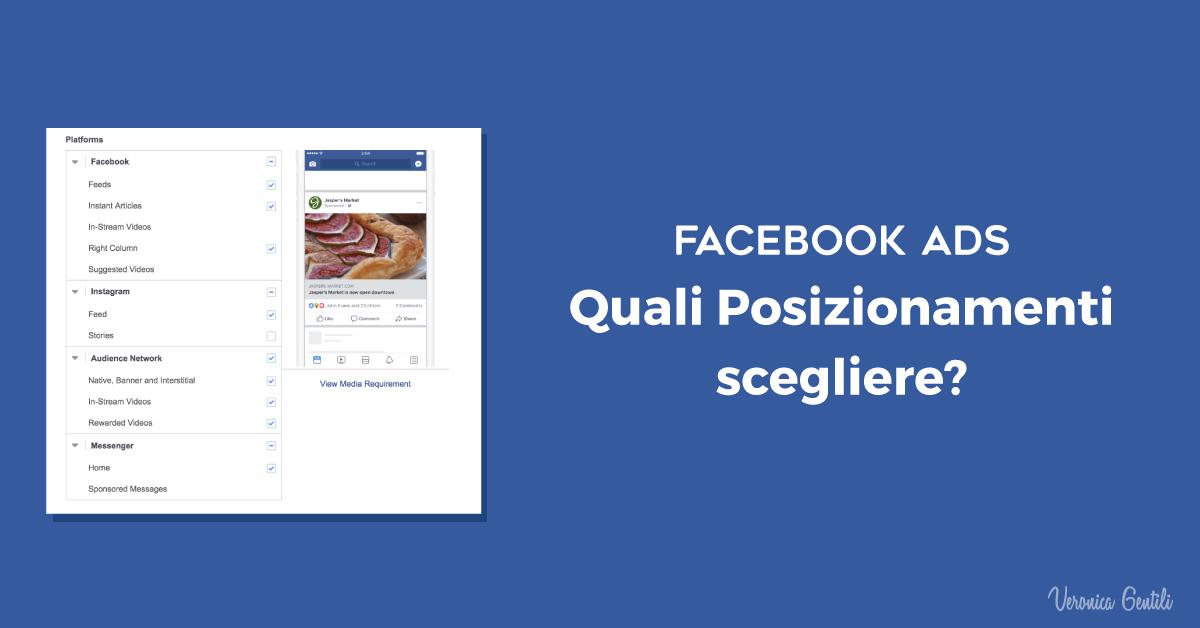 Facebook Ads, quali Posizionamenti scegliere?