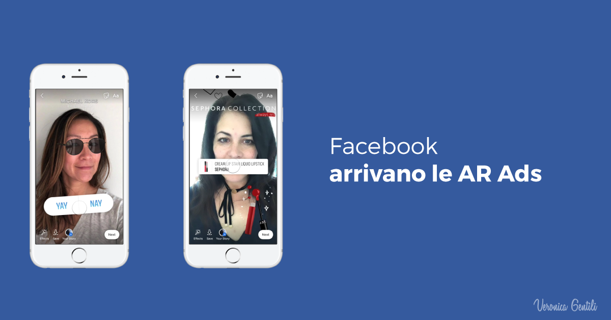 Facebook, arrivano le AR Ads e il Video Creation Kit