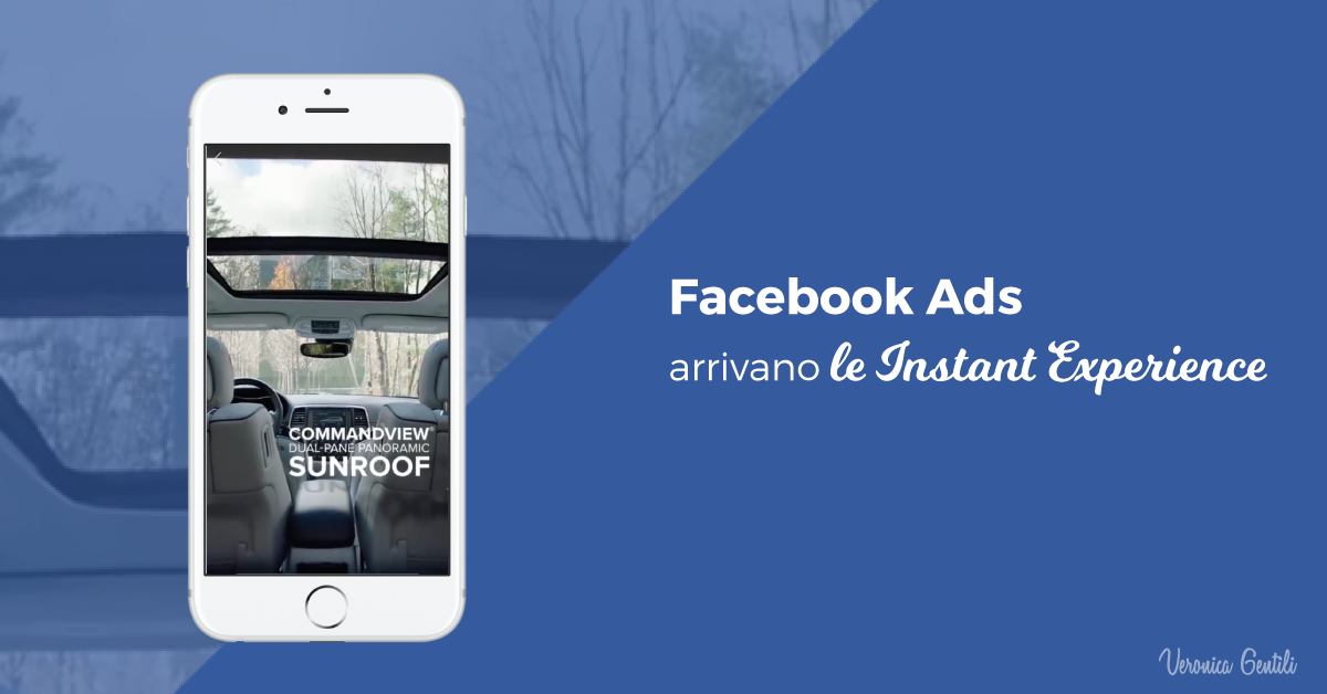 Facebook Ads, arrivano le Instant Experience