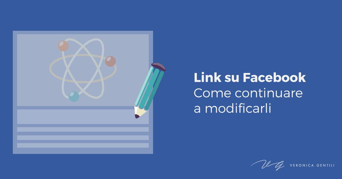 Facebook, come continuare a modificare l'anteprima dei link