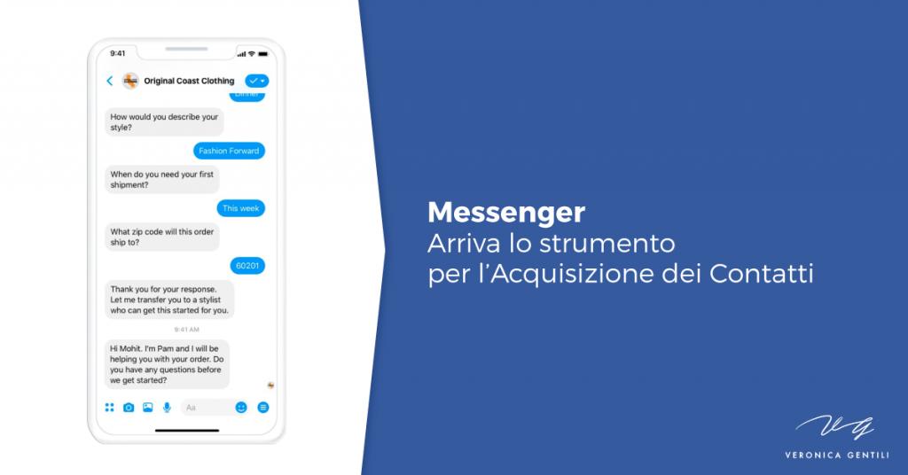 messenger-acquisizione-contatti