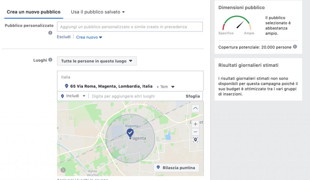 facebook ads local