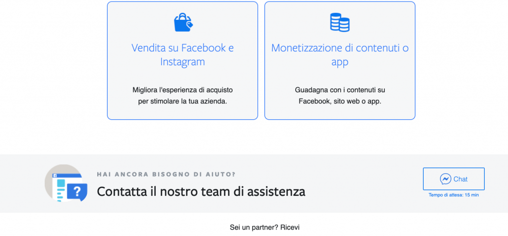 contattare chat assistenza facebook