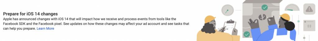 facebook ads ios aggiornamento alert